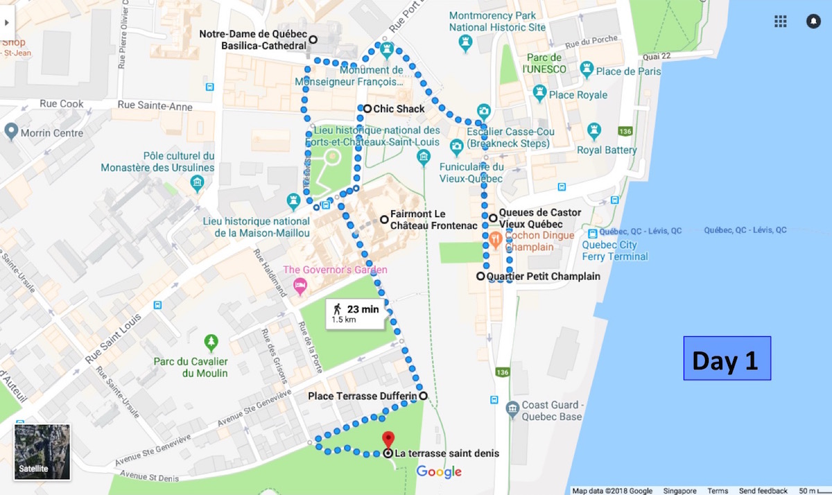 Map Of Canada Quebec City.Quebec City 2 Day Itinerary For First Time Visitors