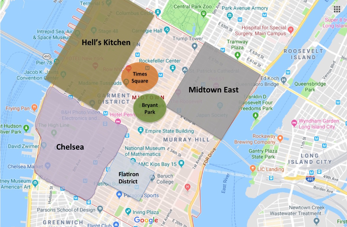 Map Of New York City Neighborhoods Manhattan.Best Places To Stay In New York For First Timers Eatandtravelwithus