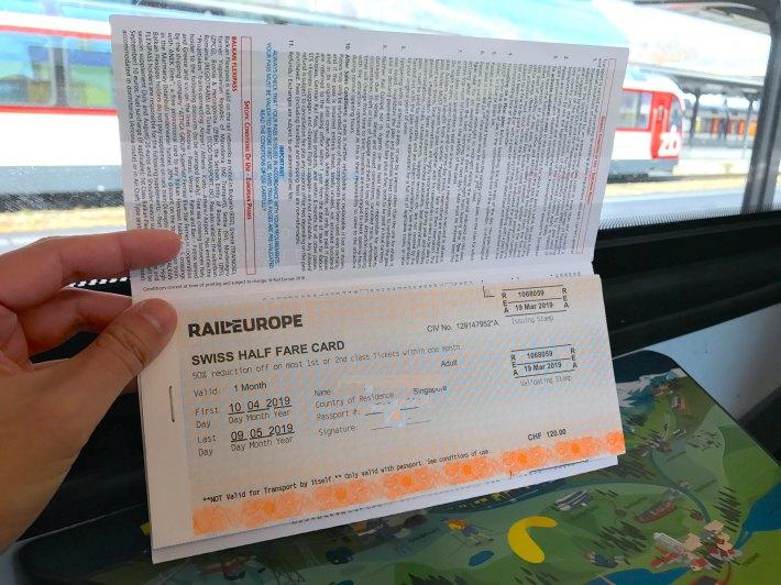 Kết quả hình ảnh cho Swiss Half Fare Card