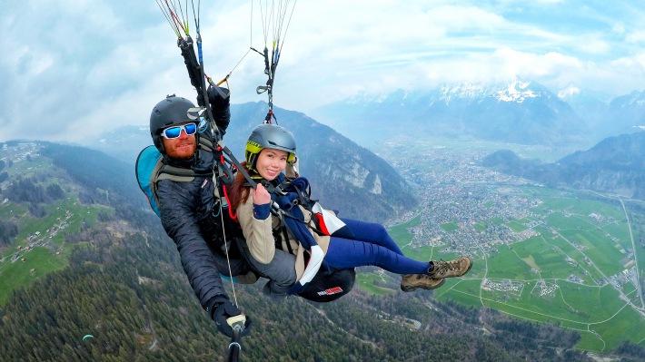 Paragliding in Interlaken, Switzerland - Magnificent Views